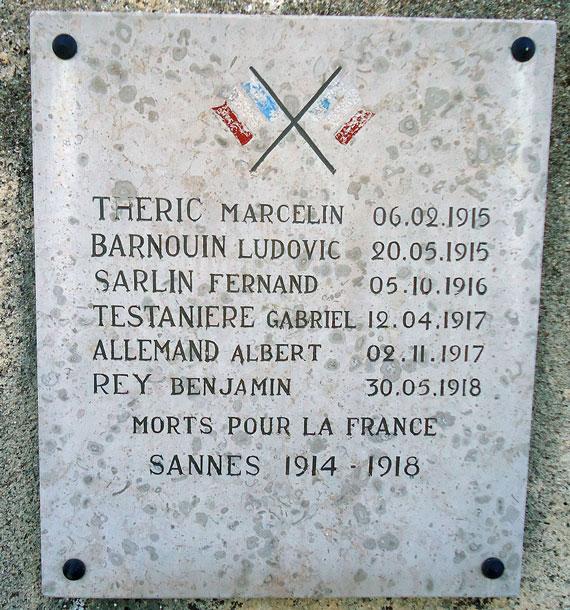 Hommage aux morts pour la France 1914-1918